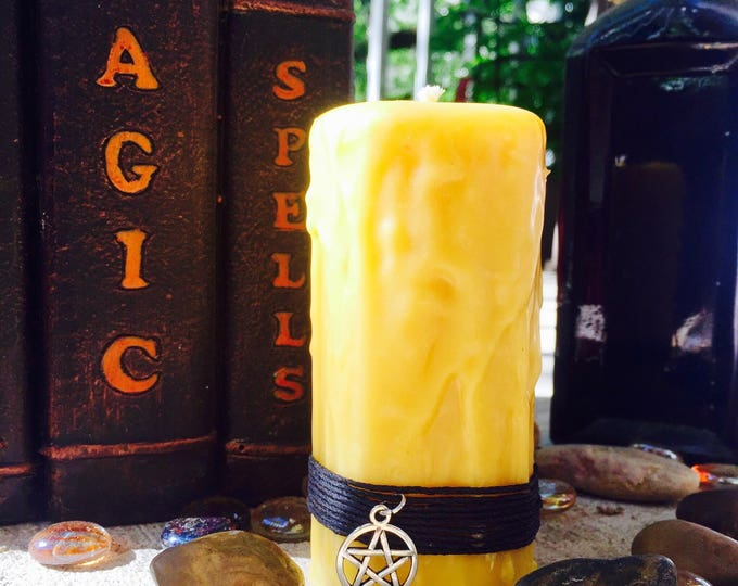 100% Pure Beeswax Spell candle