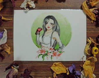 Tifa Lockhart Final Fantasy 7 laminated card