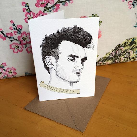 Shoptagr Morrissey Birthday Card By Etsy