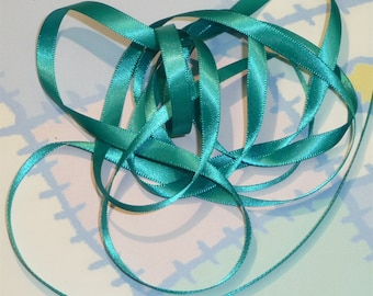 MALLARD DouBLe FaCeD SaTiN RiBBoN, Polyester 1/4 inch wide, 5 Yards