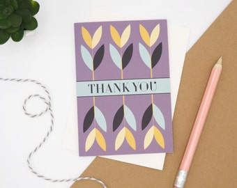 Pretty Floral Thank You Card // Thank You Notecard // A6 Card // Thank You card