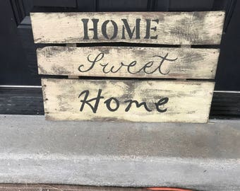 Home Sweet Home Rustic Pallet