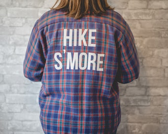 XL Hike S'More vintage blue red and green flannel