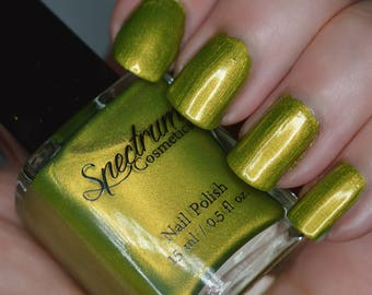 HEX Lime Green Duochrome Nail Polish