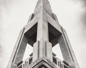 "Fine Art Photography, Urban Landscape, Portland Oregon, ""MLK Pylon #2"""