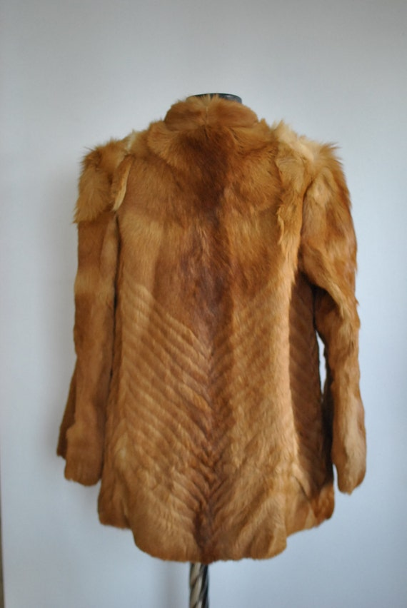 278 women's coat FOX glamorous COAT Vintage fur FUR Tgxq60n