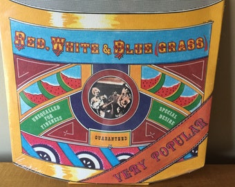 Vintage Collectible Red White & BlueGrass Sealed 1973 Vinyl Record Album LP