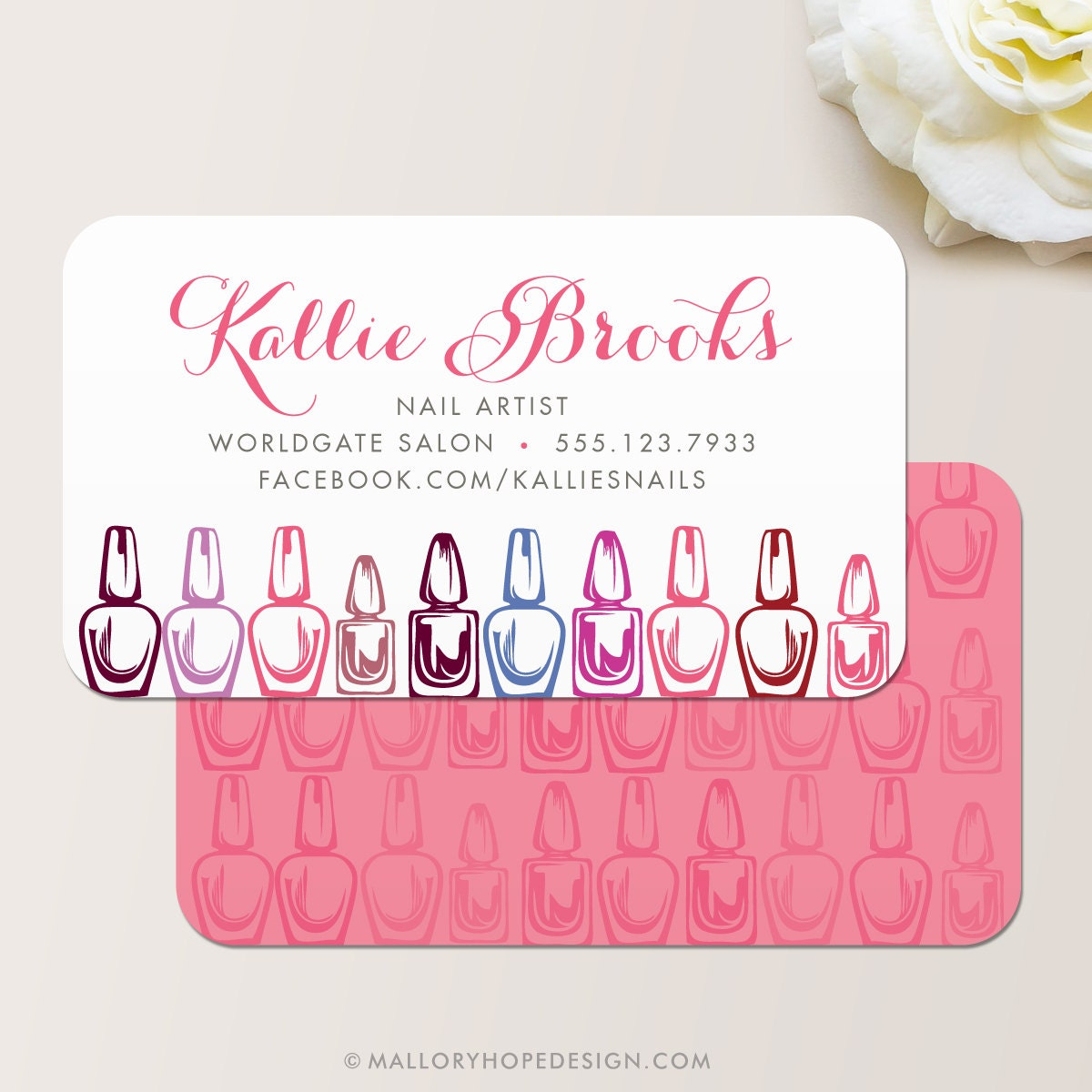 Manicurist Business Card / Calling Card / Mommy Card / Contact