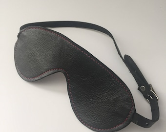 Reversible Leather Blindfold