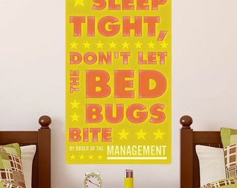 Sleep Tight Bed Bugs Bite Gold Mgmt Wall Decal - #64626
