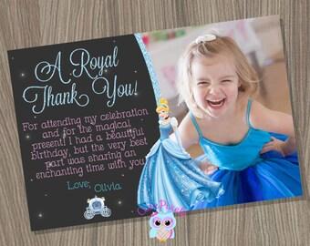 Cinderella Thank You Card, Cinderella Birthday Thank You Card, Cinderella Birthday, Disney Princess Thank You Card, Princess Thank You Card