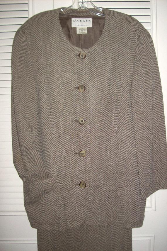 Vintage Jaeger Corduroy Casual Sport Suit Size M / L btMdW