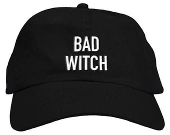 Bad Witch Halloween Dad Hat Baseball Cap Low Profile