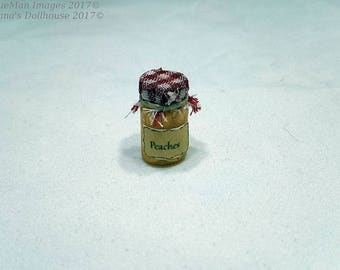 1:12 Scale Dollhouse Miniature Home Canned Peaches