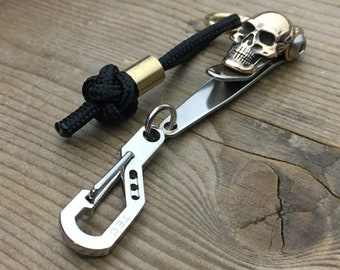 Skull Suspension Clip /  Keychain