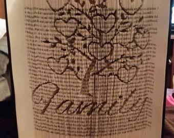 Family tree CUT N FOLD book folding pattern