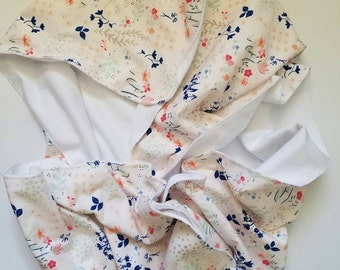 Vintage Floral Jersey Knit Baby Blanket; double sided; receiving blanket; swaddle blanket; newborn; play mat; stroller blanket; Paperie