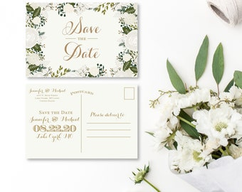 Save the Date Postcard Fall Save the Date Floral Save the Date Vintage Save the Date Save the Date Card Wedding Postcards #CL120