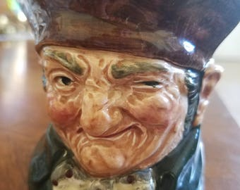 Royal Doulton Ashtray Old Charley 8232 A Rare Toby Jug Head c 1939 Registry Made in England Vintage Tobacciana British Collectable Ceramic