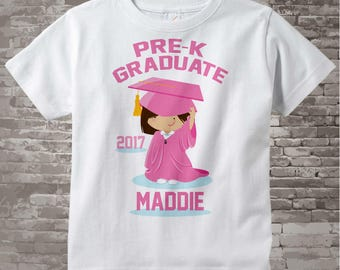 Pre K Shirt, Pre-Kindergarten Graduate Shirt, Personalized for your little girl with year, name and color 04032014c