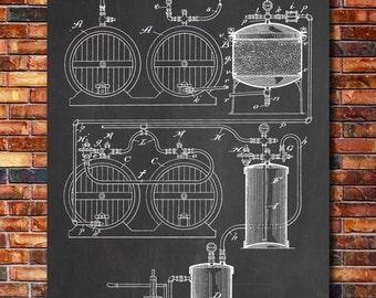 Process of Making Beer Patent Print Art 1893