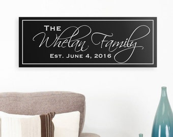 Personalized Wooden Family Name Sign Plaque Last Name Sign 8x24 TF824