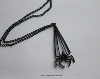 Swarovski Black Spider Pendant