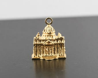 14kt yellow gold Parthenon charm 4.5 grams