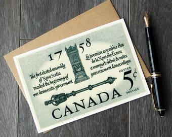 Nova Scotia history, Nova Scotia birthday cards, Nova Scotia christmas cards, Nova Scotia retirement cards, Nova Scotia greeting card