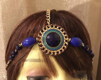 Renaissance head chain,  Circlet Headpiece, Medieval Headpiece, Celtic Headpiece, gypsy headpiece, Boho head chain, festival hair accessory