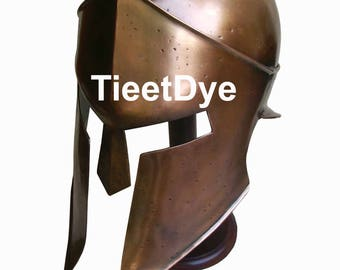 Ancient Armour King Leonidas 300 spartan Helmet in antique finish With Liner