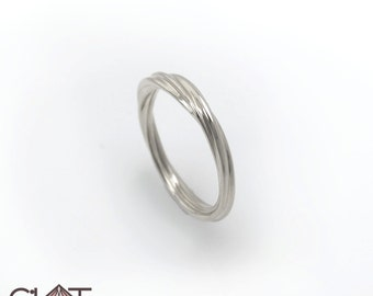Infinity ring, Infinity silver ring, Twisted band ring, Silver twisted ring, Silver twisted band ring, Twisted infinity ring, Twist ring