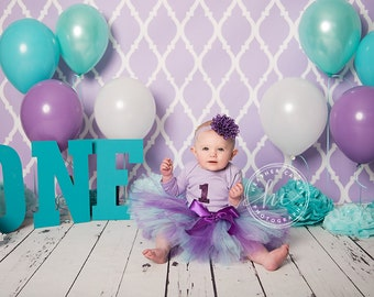 Mermaid Baby Girl 1st Birthday Outfit | Baby Tutu | Tutu Dress | Birthday Dress | Baby Girls Cake Smash Outfits | Purple Birthday Tutu