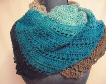crochet shawl/scarf   CS1376