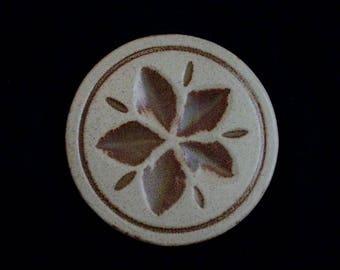 "Pigeon Forge 5"" Tile STARFLOWER (Round) Trivet or Large Coaster ~ Douglas (D.) Ferguson, Pottery Founder (B26) 6859"