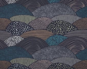 Hello Bear Summit color Twilight Art Gallery Fabric, Choose your cut