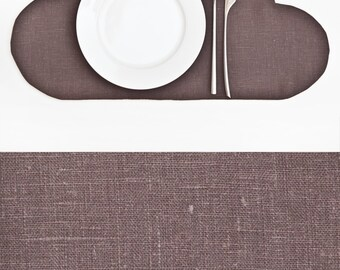 Gray Placemat, Linen Cloud Placemat, Linen Kitchen Decor, Gray Cloud Housewarming Gifts Coffee and Tea mat Childrens Placemat Gift Ideas