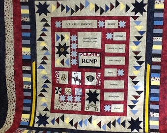 RCMP retirement quilt