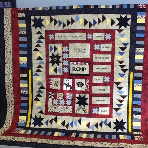 RCMP Memory Quilt & Others by QuiltsByTheBay in Digby, Nova Scotia