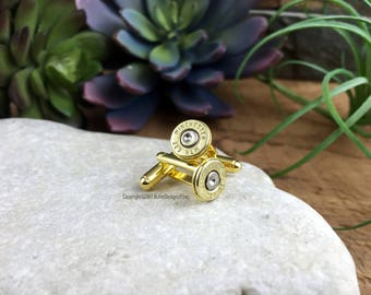 Bullet Cufflinks, Winchester 223 Brass Bullet Cufflinks, Wedding Cufflinks, Bullet Cuff Links, Wedding Cuff Links, 223 Cuff Links, AR-15
