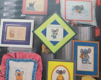 Live And Learn Charted Mouse Cross Stitch Pattern Book Cari Collection
