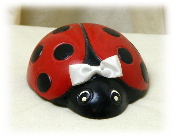 "Hand Crafted ""LADY BUG"" Paper Weight . . . Sooo Cute"