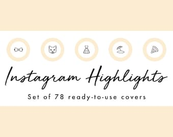 Instagram Story Highlight Icons - 78 Peach Circle Covers | Fashion, Beauty, Lifestyle, Decor, Craft, Handmade, Bloggers, Influencers