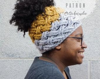 CROCHET PATTERN #008--- Chunky wavy hat