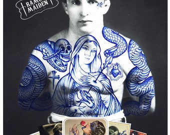 Ramon Maiden postcards and stickers pack