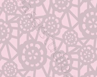 Lace Pattern Stencil/Mylar190/LA45