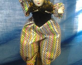 Clown/Jester Porcelain Doll