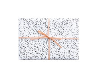 Music Wrapping Paper, Music Wrapping Sheets, Music Gift Wrap, Music Notes Gift Wrap, Music Notes Wrapping Paper