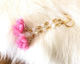Flower tassel earings