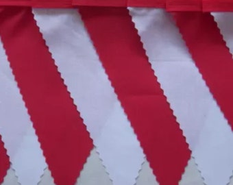 Japan, Canada, Georgia,England Red & White  fabric bunting